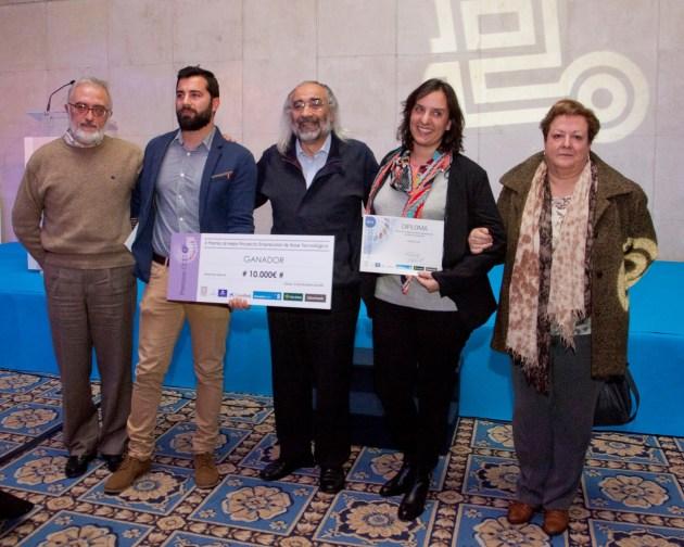 Fundadores de Nanovex Biotechnologies en la entrega de los X Premios CEEI al Mejor Proyecto Empresarial de Base Tecnológica