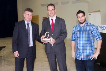 Luis Buznego, Innovasturias; Juan Enterria, COFAS y Ruben Roson, Ayuntamiento de Oviedo.